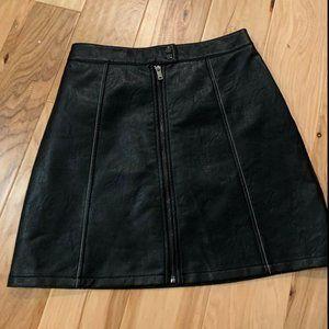 Zara Basics Faux Leather Mini Skirt Size S